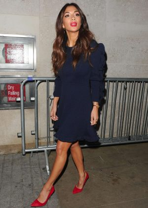 Nicole Scherzinger - Leaving the BBC studios in London