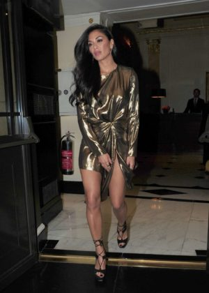 Nicole Scherzinger - Leaving the Dorchester Hotel in London