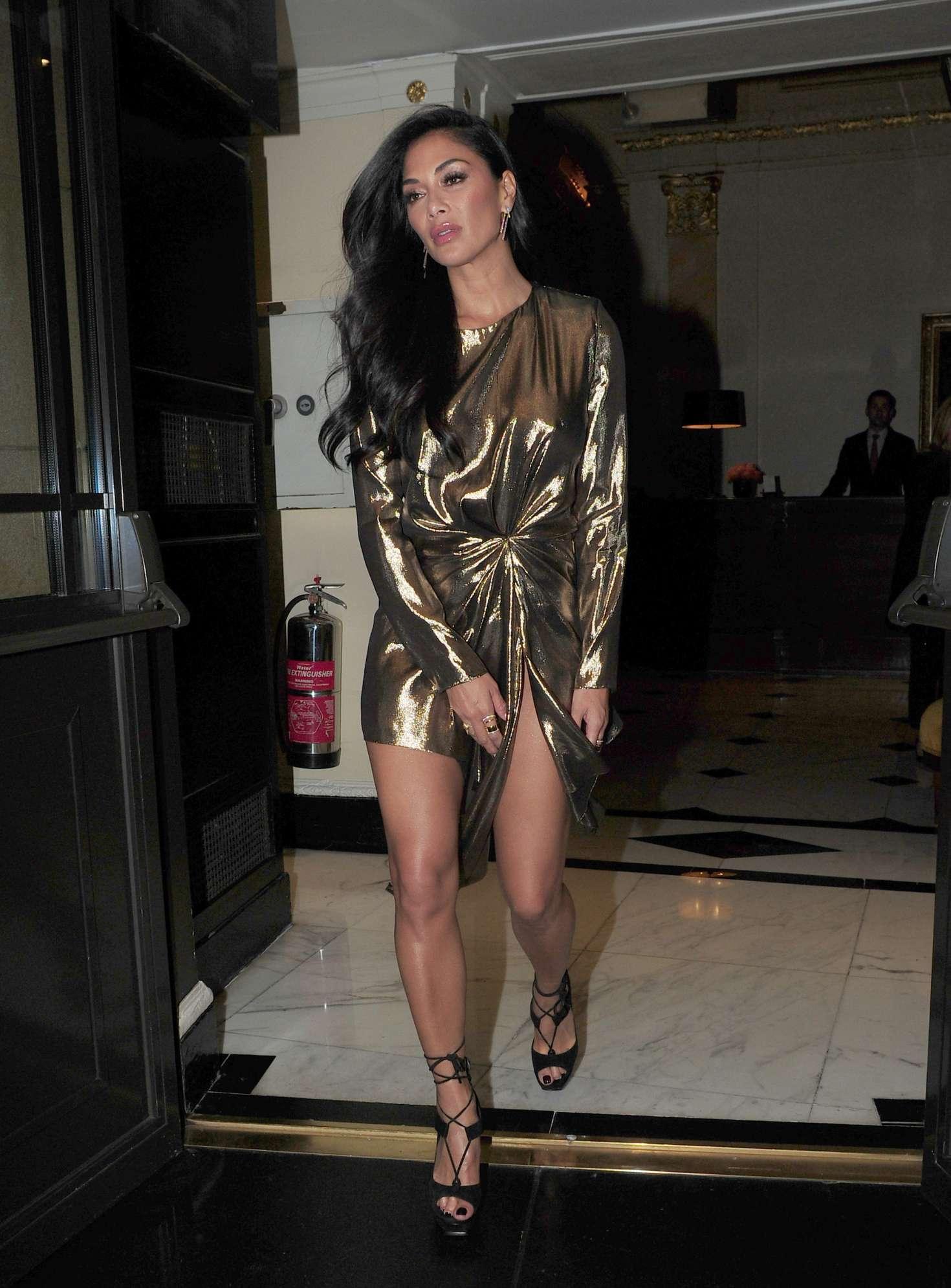 Nicole Scherzinger - Leaving the Dorchester Hotel in London