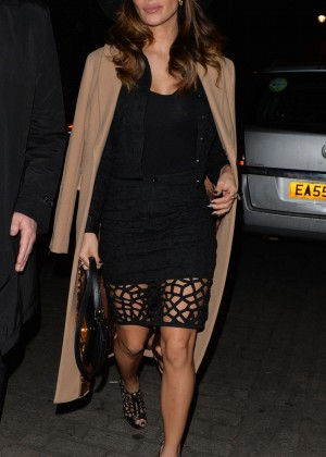 Nicole Scherzinger - Leaving the London Palladium Theatre in Westminster