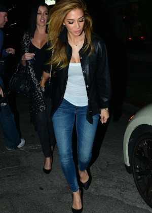 Nicole Scherzinger in Jeans - Leaving The Nice Guy in LA