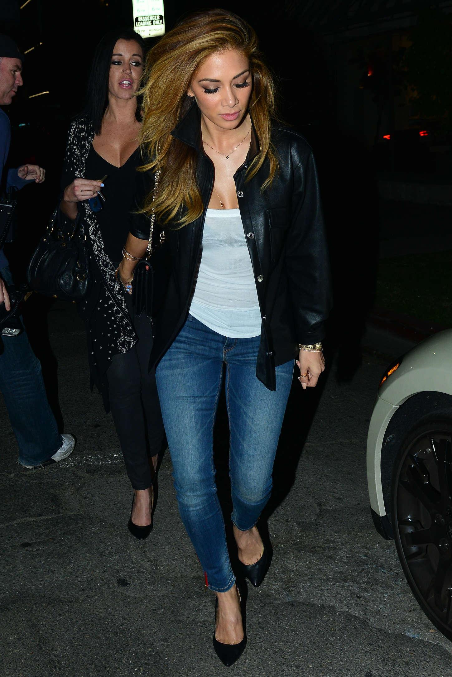 Nicole Scherzinger in Jeans - Leaving The Nice Guy in LA