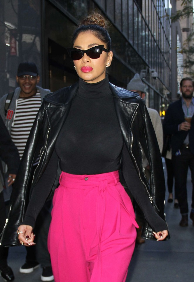 Nicole Scherzinger - Leaving the 'Today' Show in NYC