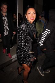 Nicole Scherzinger - Leaving the Warner Music Grammy Pre-party in Hollywood