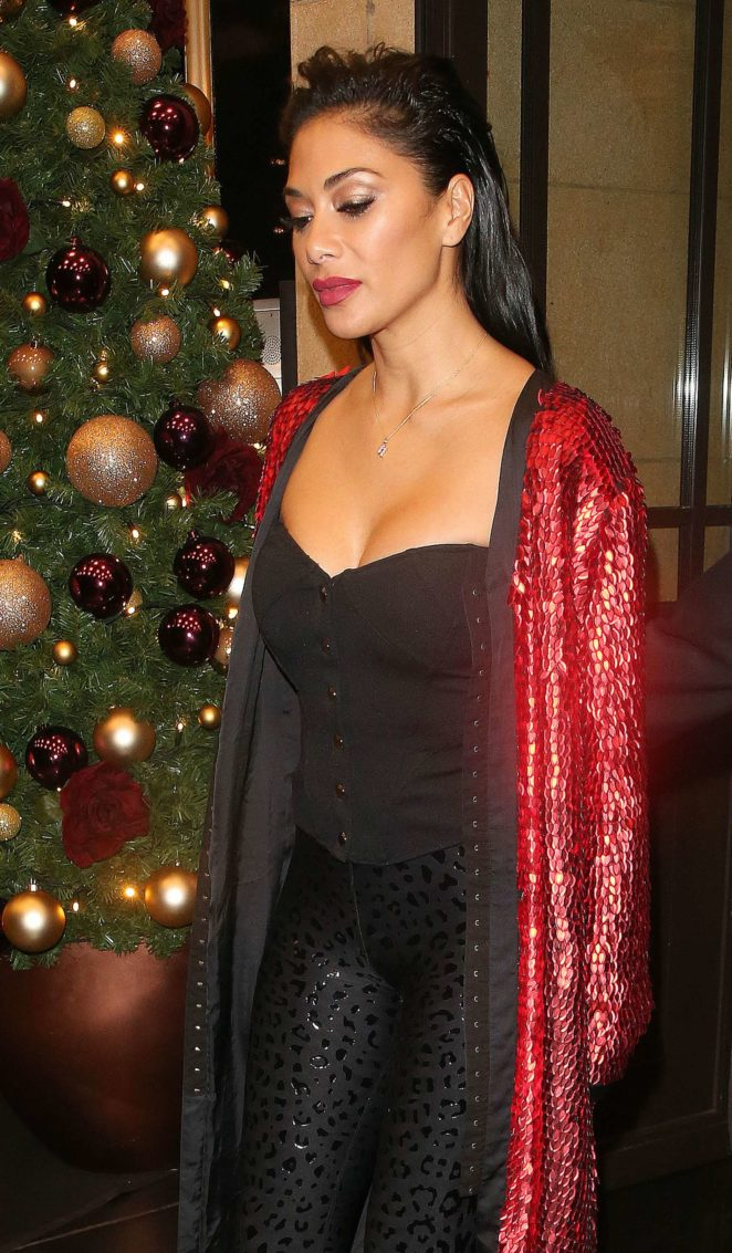 Nicole Scherzinger - Leaving The X Factor Afterparty in Mayfair