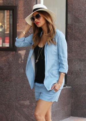 Nicole Scherzinger in Shorts out in Beverly Hills
