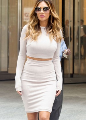 Nicole Scherzinger in Tight Dress out in NYC