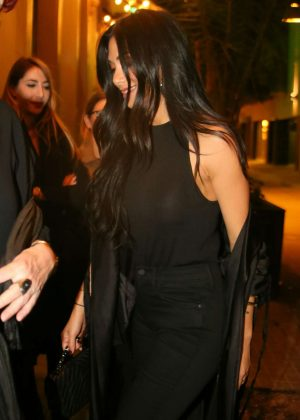 Nicole Scherzinger out to dinner in Barcelona