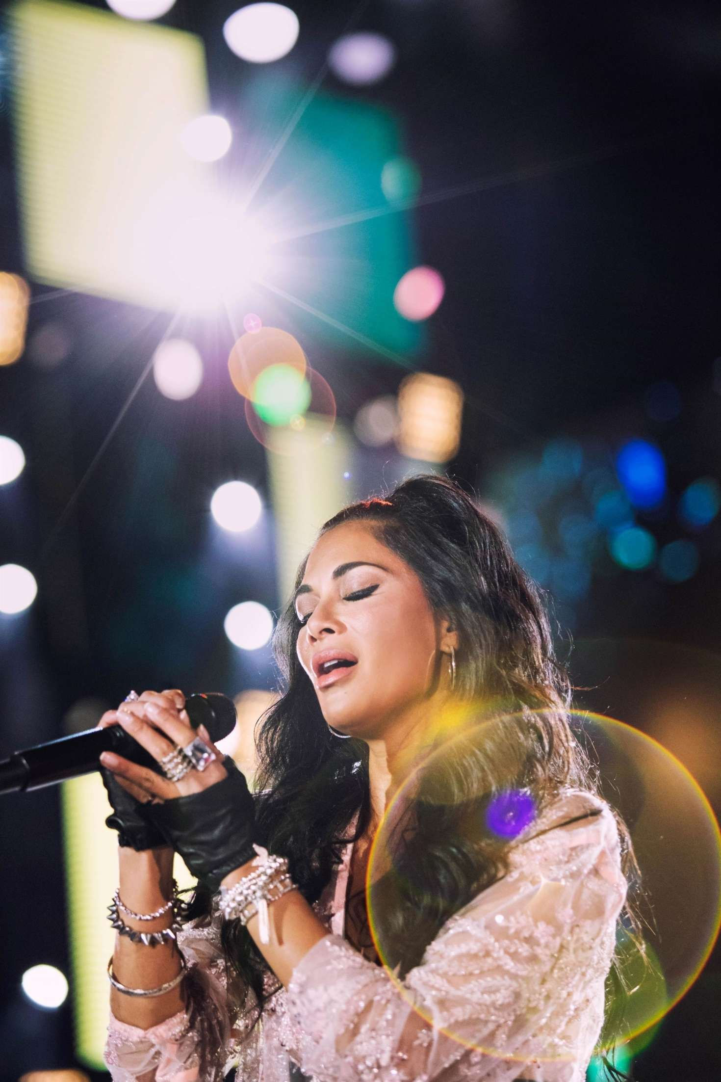 Nicole Scherzinger Performing at Cerbul de Aur Festival in