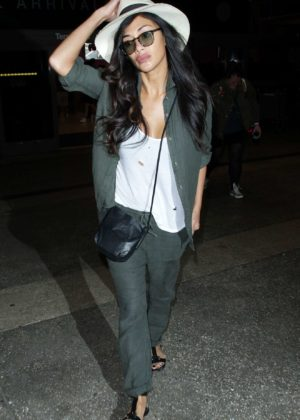 Nicole Scherzinger - Seen At LAX International Airport in Los Angeles