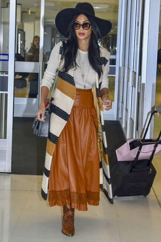 Nicole Scherzinger - Seen At Sydney Airport