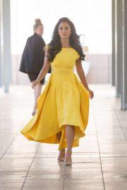 Nicole Scherzinger - Seen leaving Nova radio in Pyrmont - Sydney