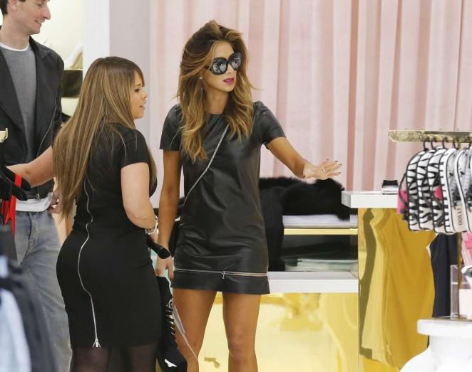 Nicole Scherzinger in mini Dress -01