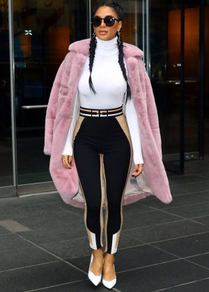 Nicole Scherzinger - Stops by the Time Warner Center in New York