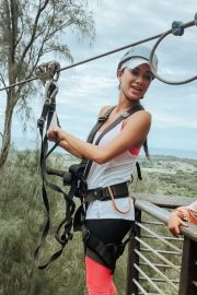 Nicole Scherzinger - Visited Climb Works Keana Farms in Hawaii
