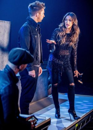 Nicole Scherzinger - X Factor Rehearsals in London