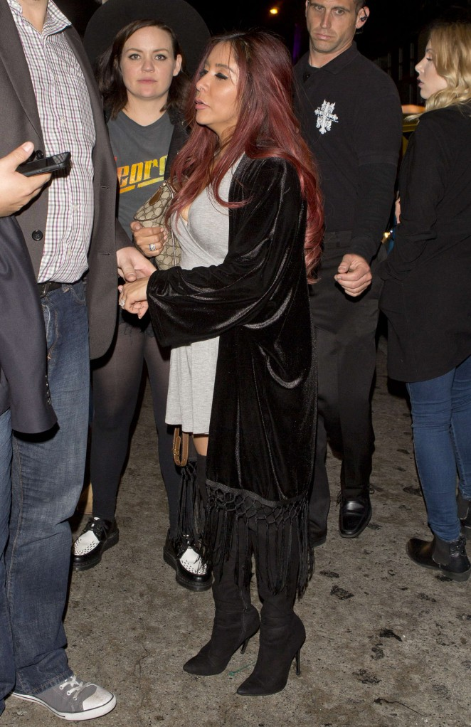 Nicole Snooki Polizzi at Abbey in West Hollywood