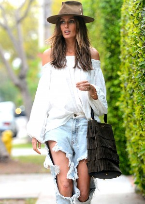 Nicole Trunfio in Ripped jeans Out in Los Angeles