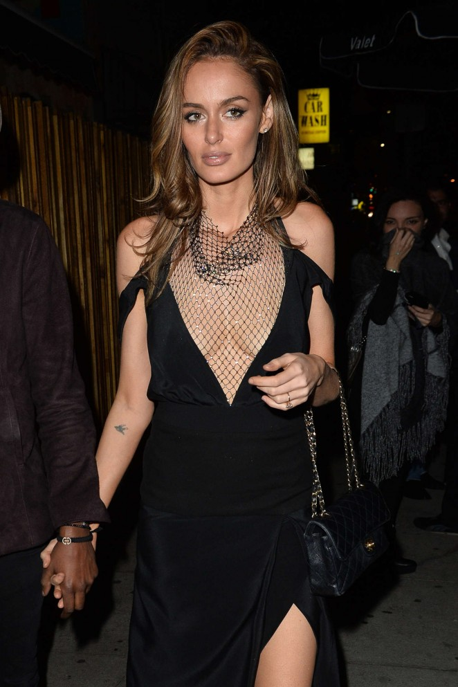 Nicole Trunfio Leaves a Club in West Hollywood