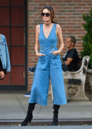 Nicole Trunfio in Jeans out in New York City