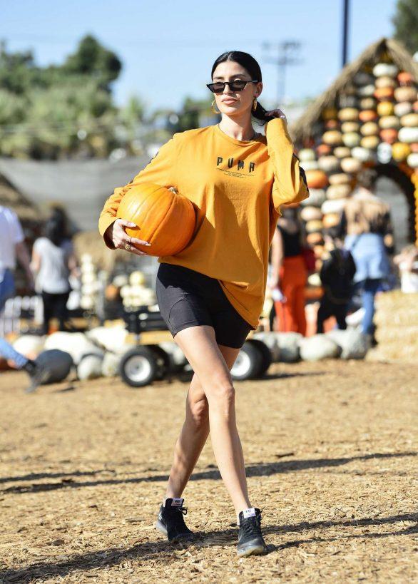 Nicole Williams at Mr Bones pumpkin patch in Los Angeles