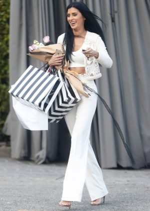 Nicole Williams Leaves her bridal shower in West Hollywood