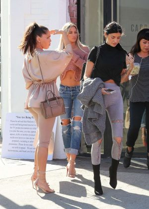 Nicole Williams, Olivia Pierson and Barbie Blank out in LA