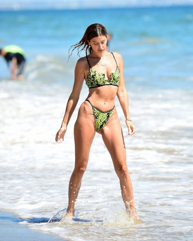 Nicole Williams - Wearing Michael Costello x REVOLVE Granger bikini in Malibu beach