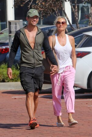 Nicollette Sheridan - With her boyfriend out in Malibu