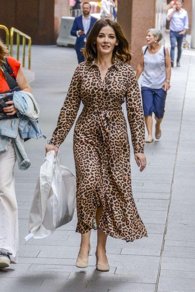 Nigella Lawson in Animal Print Dress - Out in Sydney