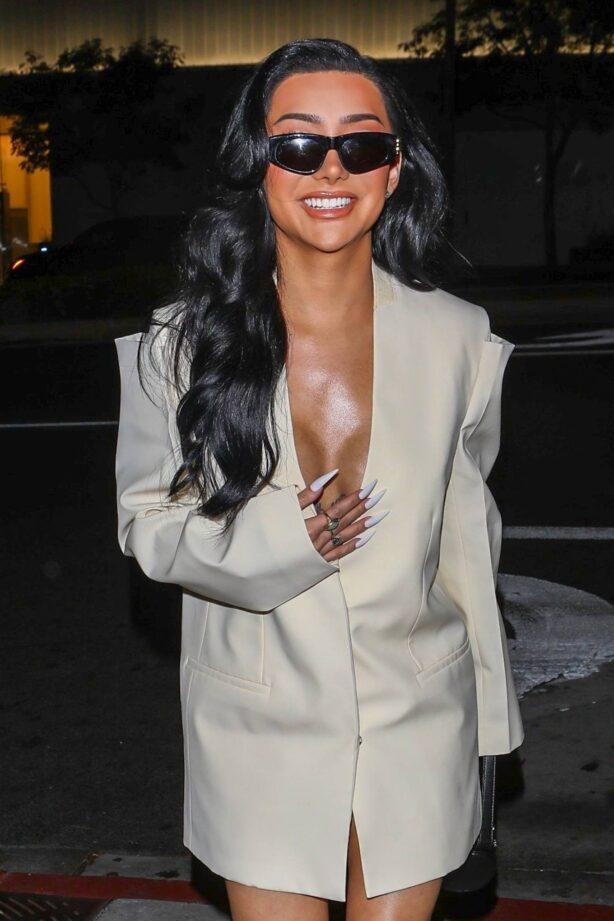 Nikita Dragun - arrives for dinner at BOA Steakhouse in Los Angeles