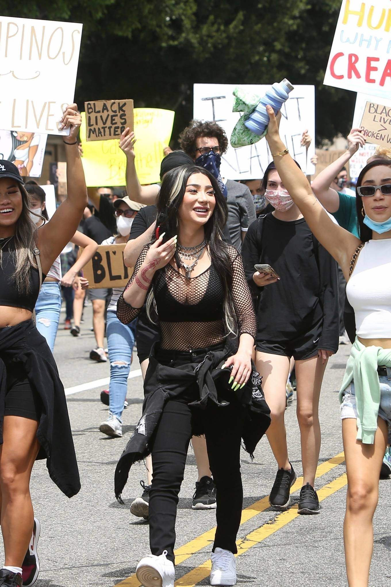 Nikita Dragun - Marches with fellow protesters in Hollywood