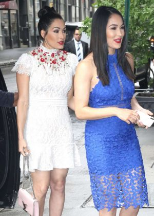 Nikki And Brie Bella Arrives - Seen at The Chew In New York
