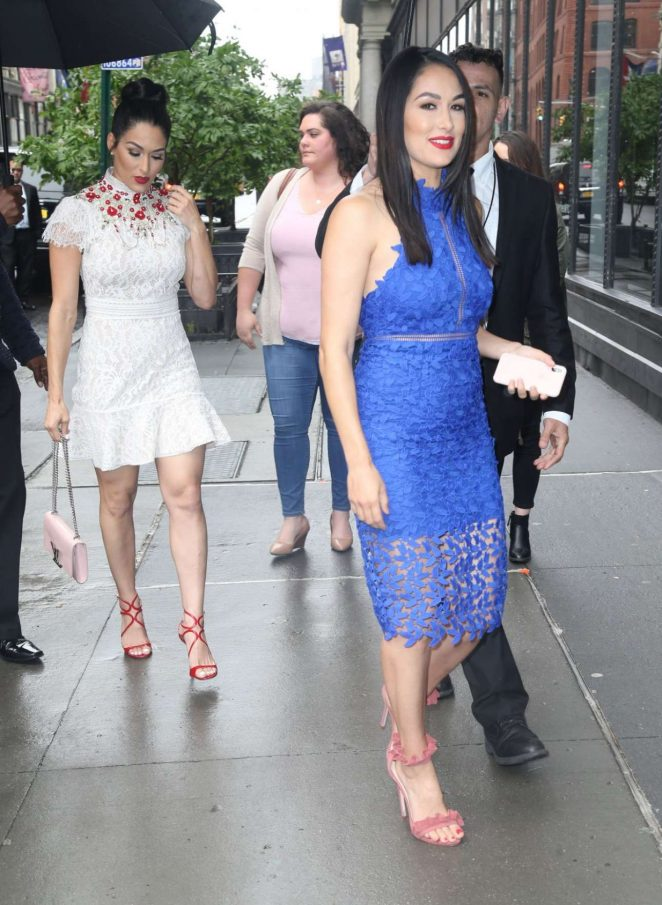 Brie Bella 2018 : Nikki And Brie Bella Arrives: Seen at The Chew In New York-08