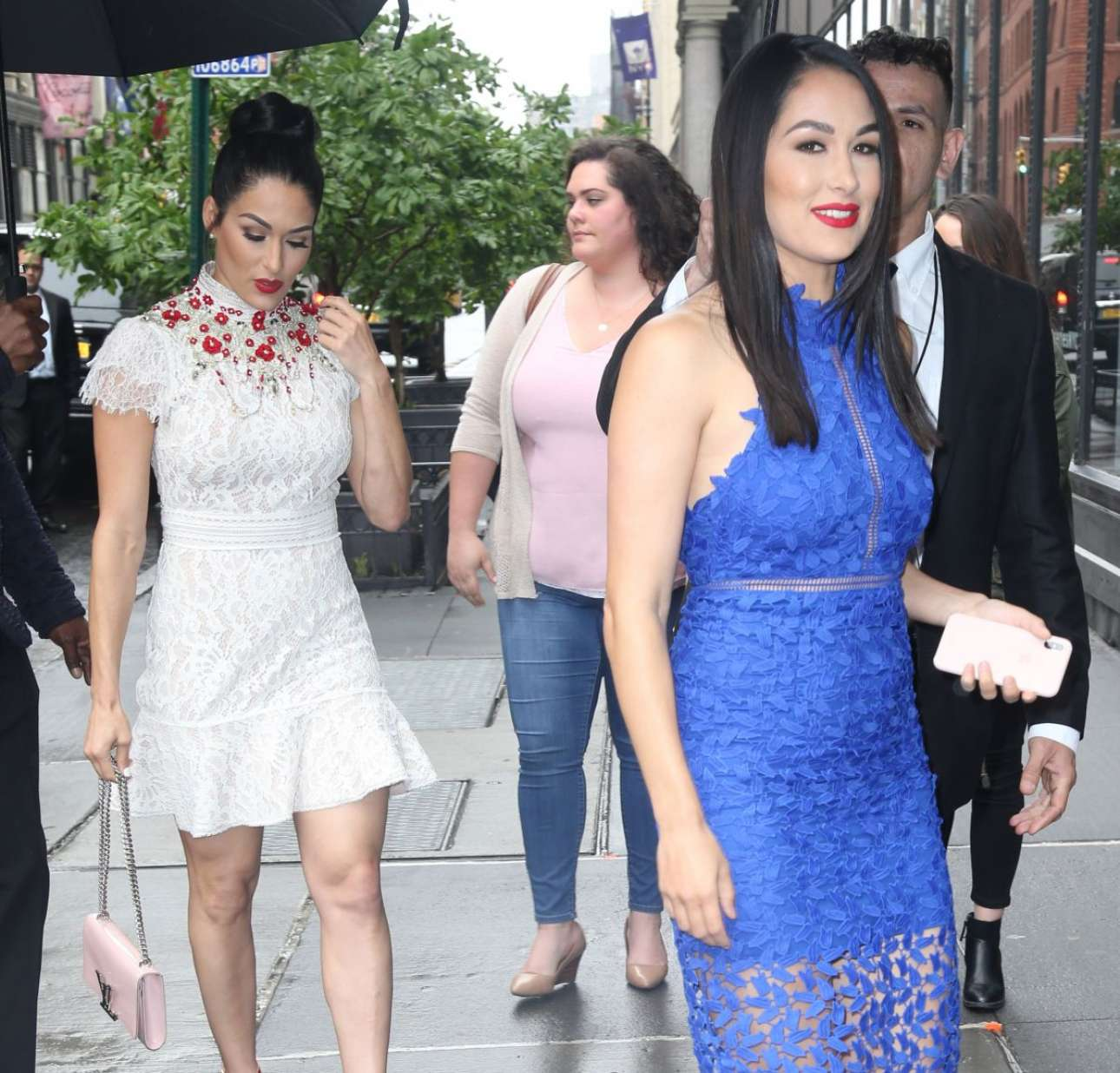 Brie Bella 2018 : Nikki And Brie Bella Arrives: Seen at The Chew In New York-09