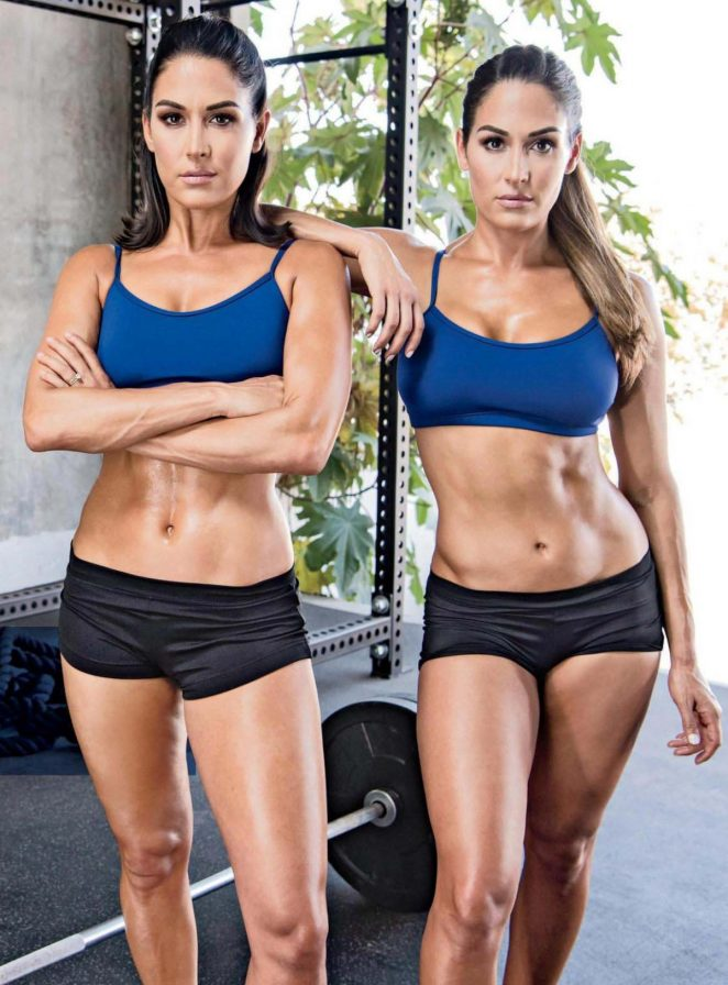 Nikki and Brie Bella - Muscle and Fitness Magazine (October 2016)