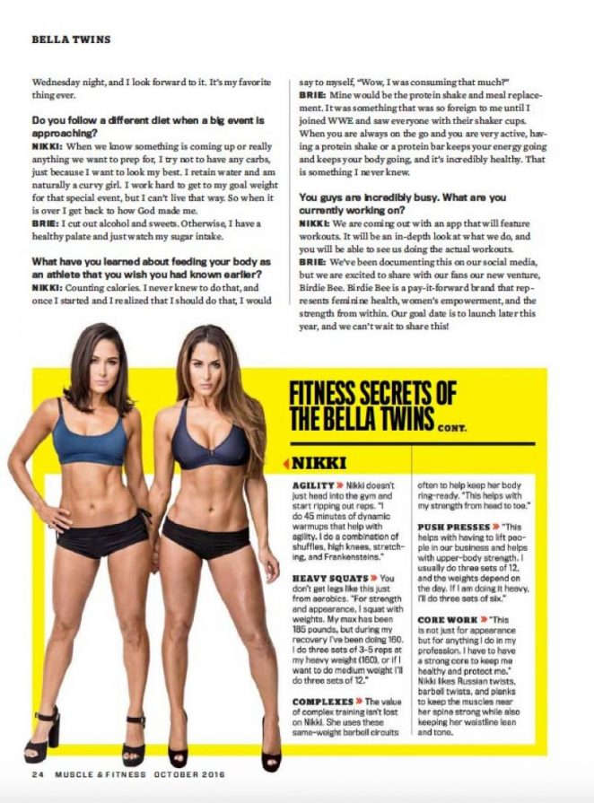 Nikki and Brie Bella: Muscle and Fitness 2016 -10