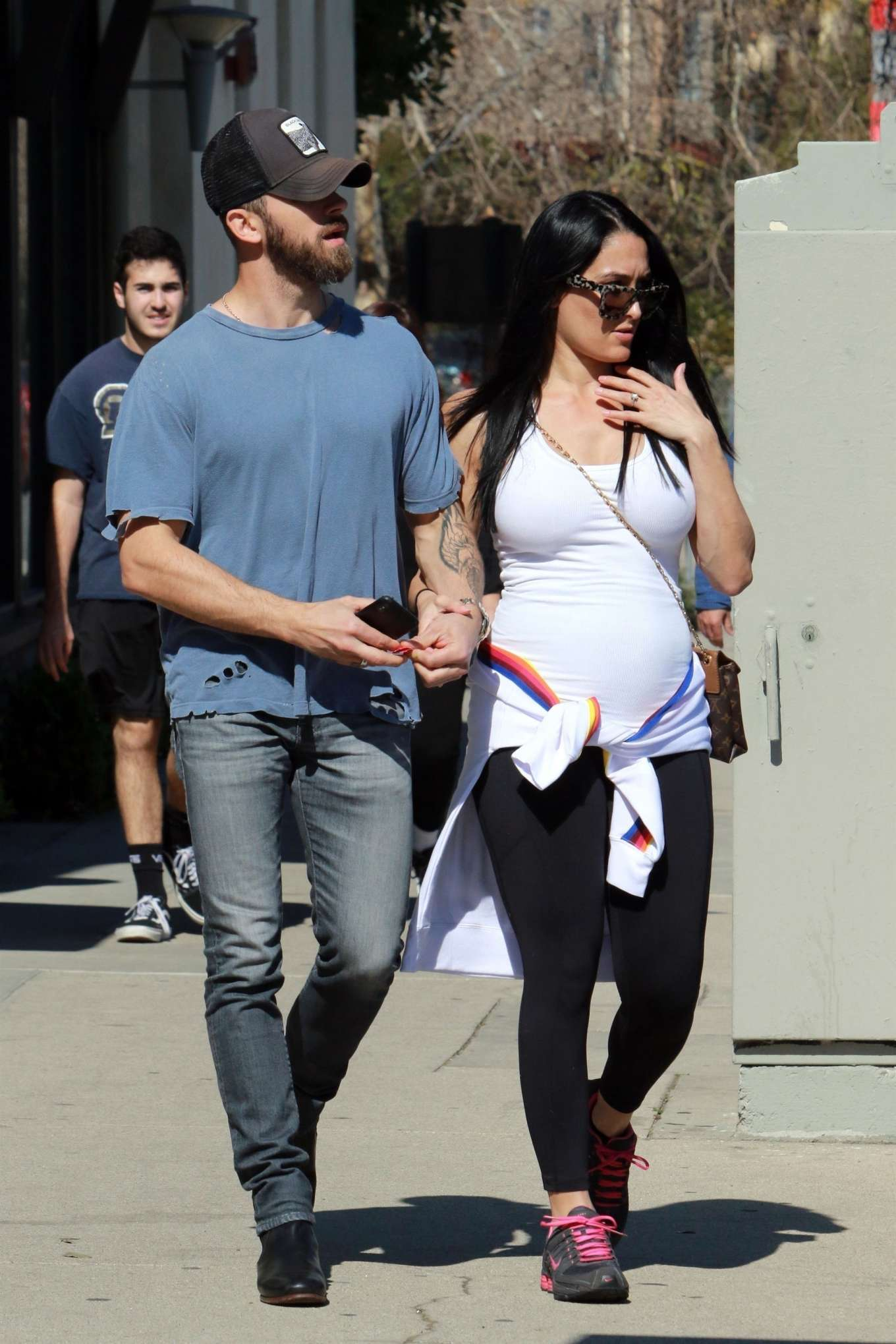 Nikki and Brie Bella - Seen at the Farmers Market in Studio City