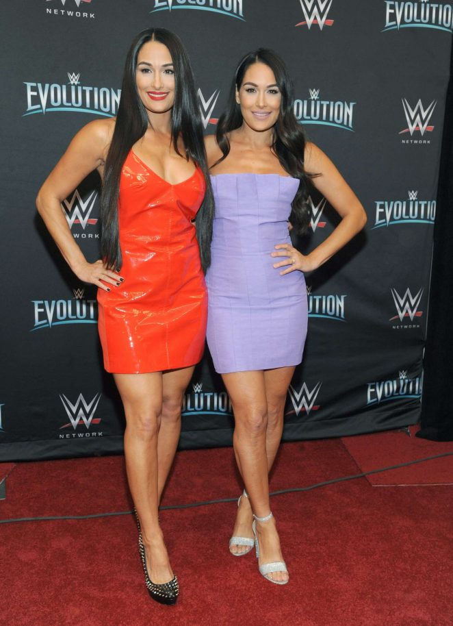 Nikki and Brie Bella – WWE Evolution in New York