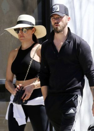 Nikki Bella and Artem Chigvintsev - Out for lunch at Joan's on Third in LA