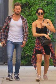 Nikki Bella and fiance Artem Chigvintsev - Visit a personal trainer in Beverly Hills