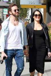 Nikki Bella and her fiance Artem Chigvintsev - Out for lunch in Beverly Hills