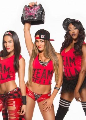 Nikki Bella, Brie Bella & Alicia Fox - WWE Divas Revolution Photoshoot