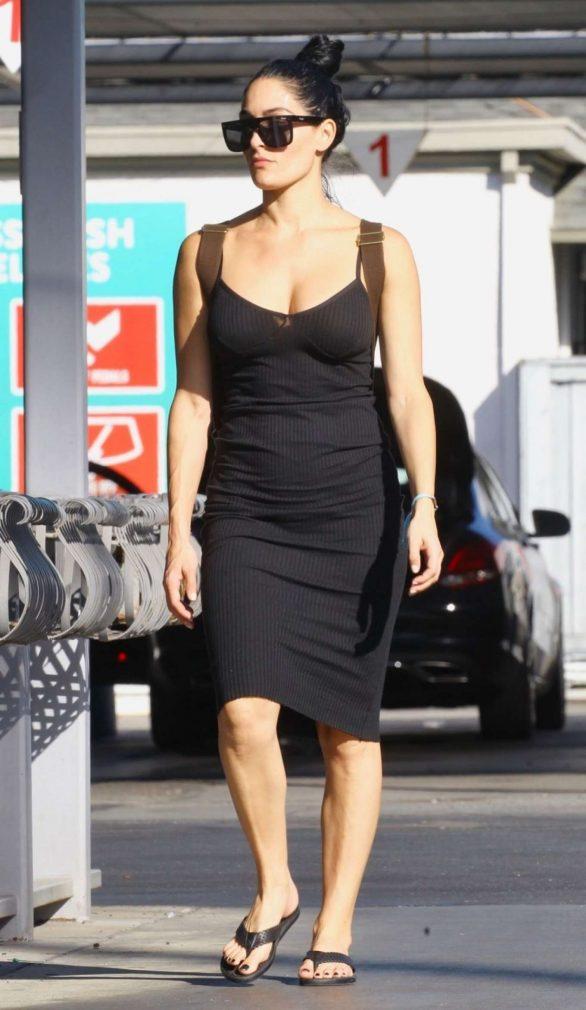 Nikki Bella in Black Dress - Out in Sherman Oaks