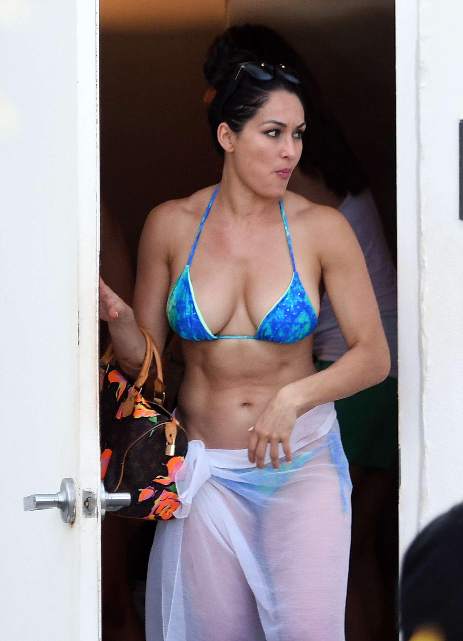 Nikki Bella in Blue Bikini 2018 -19 - GotCeleb