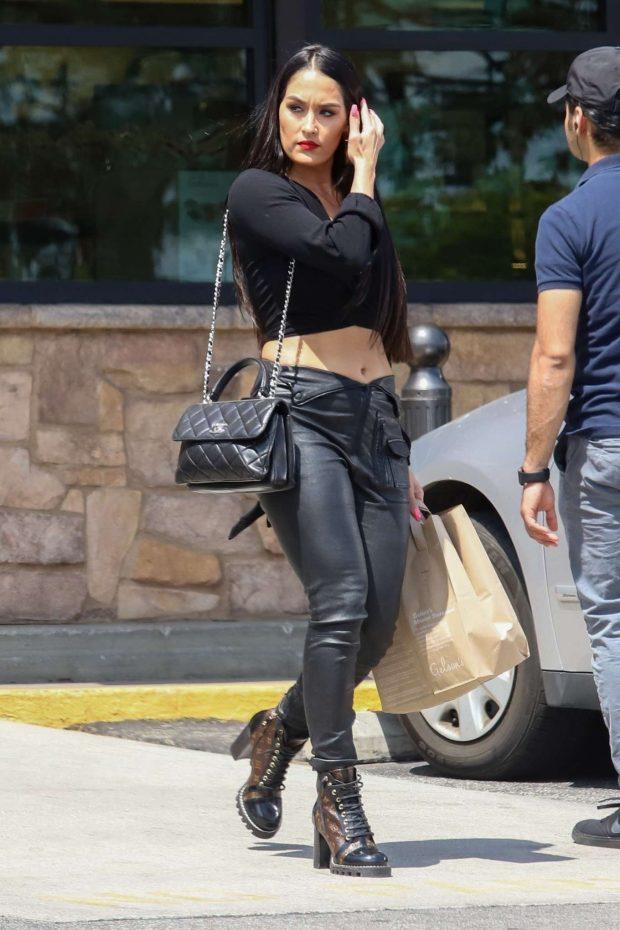 Nikki Bella In Leather Pants 15 Gotceleb