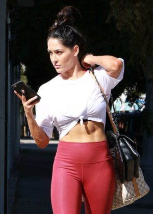 Nikki Bella in Tights - Leaves her dance workout in Los Angeles