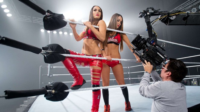 Nikki & Brie Bella - WWE Divas 2015 Photoshoot Outtakes
