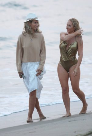 Nikki Lund and Lady Victoria Hervey - Filming her Music Video for 'You and I' song in Malibu