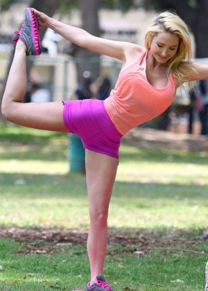 Nikki Lund - Doing Yoga in Beverly Hills